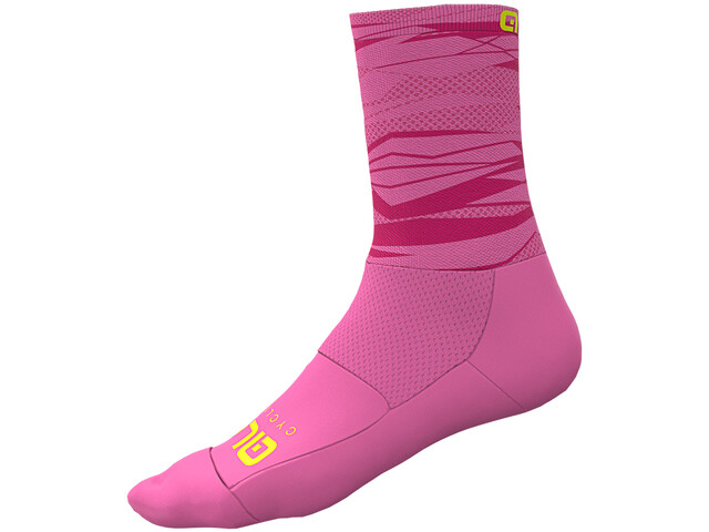 Alé Cycling Rock Chaussettes Homme, fluo pink